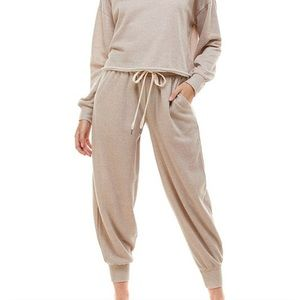 Neutral Sweatsuit Jogger Loungewear Matching Set